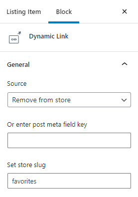remove from store dynamic link