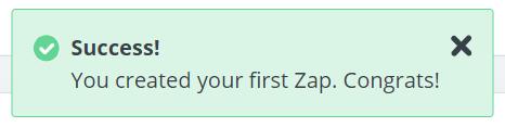 zapier success message