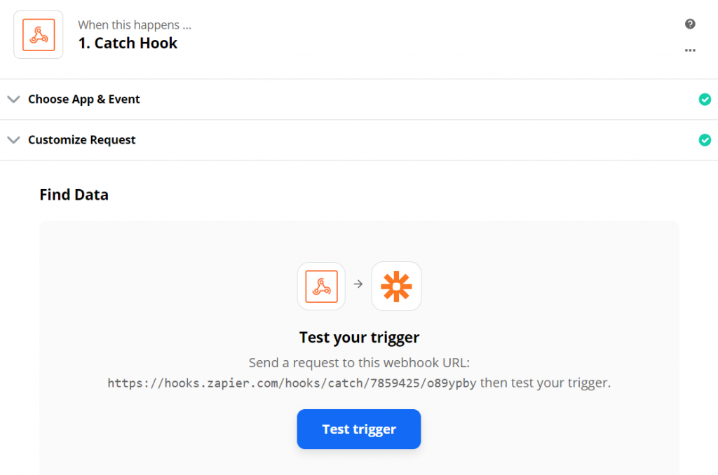 testing connection between JetEngine form and Zapier