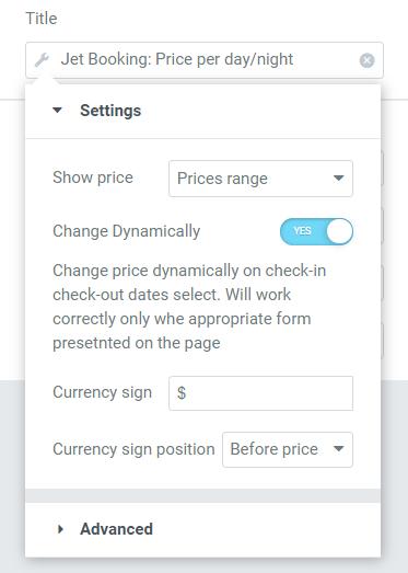 dynamic tag settings