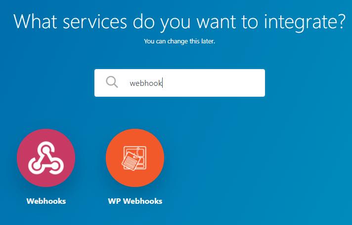 choose webhook
