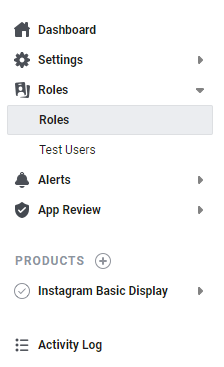 instagram roles