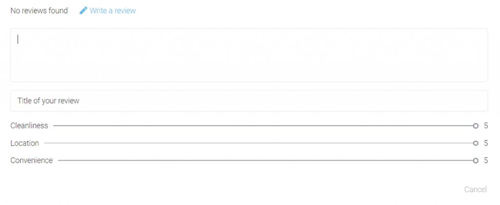 review adding empty fields