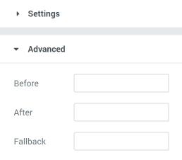reviews dynamic tag advanced settings block