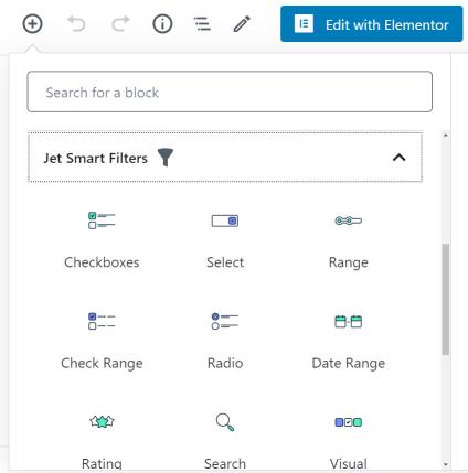 Jet Smart Filters blocks
