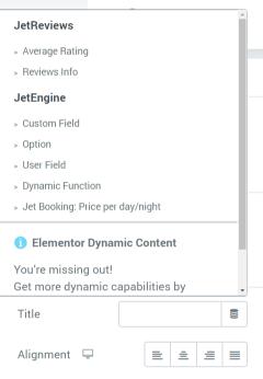 dynamic tags list