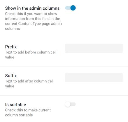 CCT Admin Column