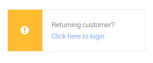 Checkout Login Form widget