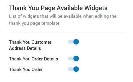 Thank You widgets