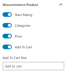 Grid Builder WooCommerce settings