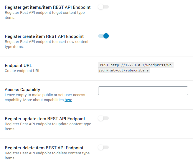 register create endpoint