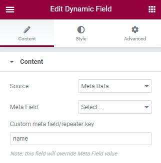dynamic field adding