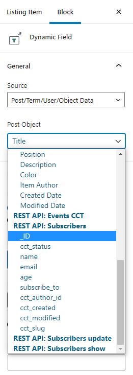 REST API Gutenberg