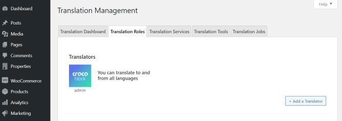 translation roles in WPML settings