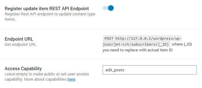 register update endpoint