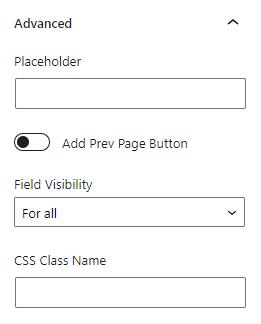 advanced settings section