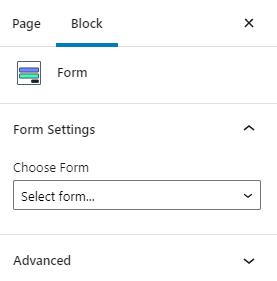choosing the form