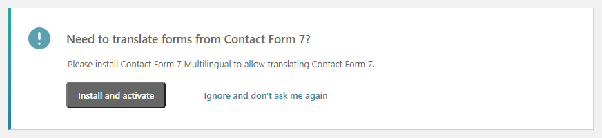 contact form 7 multilingual banner