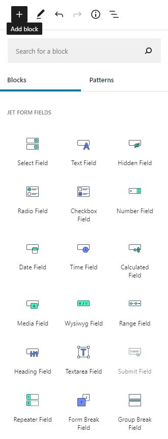 JetFormBuilder blocks