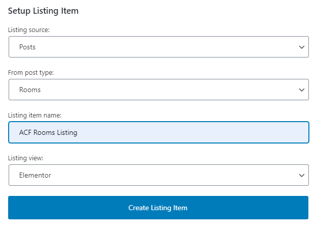 adding a new listing template