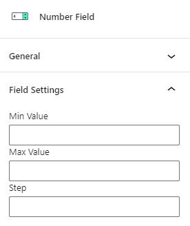 number field settings