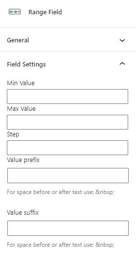 range field settings