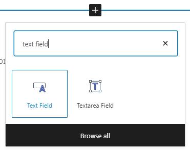 text field block