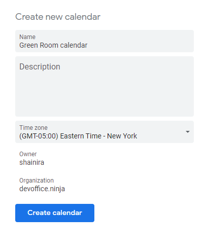 filling in the new calendar data