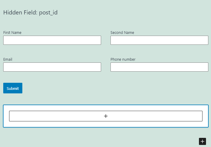 conditional block in form