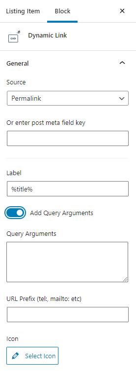 dynamic link query arguments