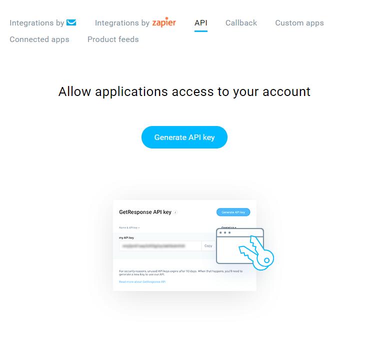 getresponse API tab