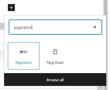 pagination block