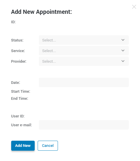 adding new appointment