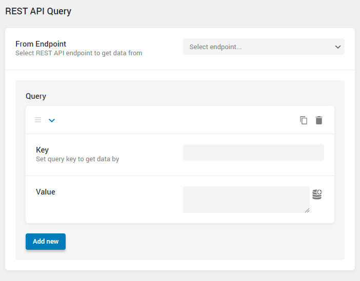 REST API Query settings