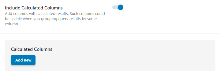 Include Calculated Columns
