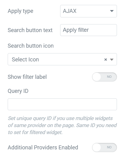 additional search filter content settings