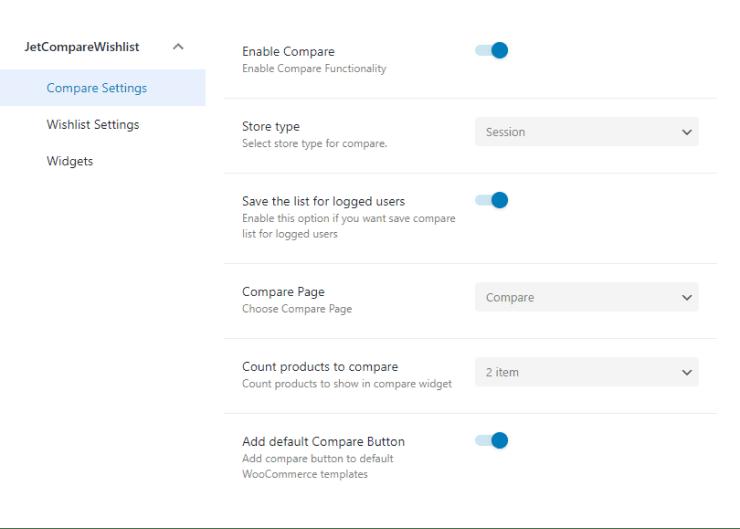 jetcomparewishlist compare settings