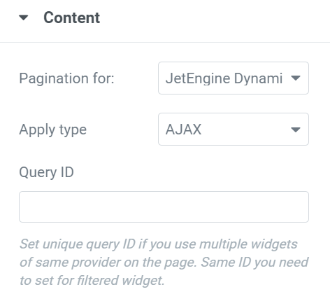 pagination content tab