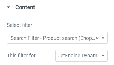 search content tab