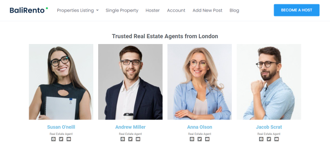 real estate agents query by location frontend