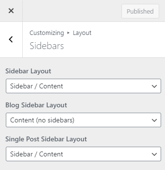 GeneratePress theme settings