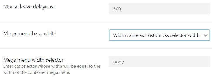 JetMenu Desktop menu settings