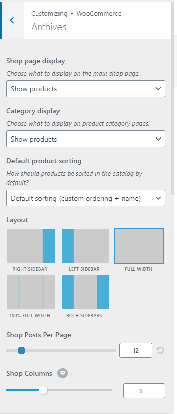 OceanWP theme settings