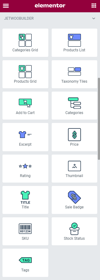 archive card widgets in elementor