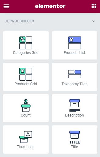 category card widgets in elementor