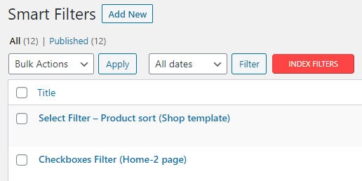 index filters button
