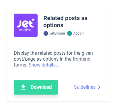 devtools plugin related posts as options