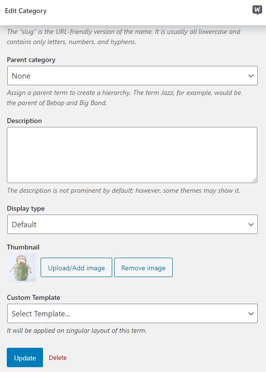 WooCommerce product category image