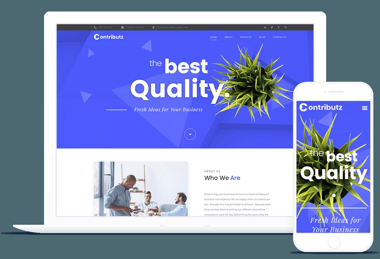Contributz — WordPress Theme