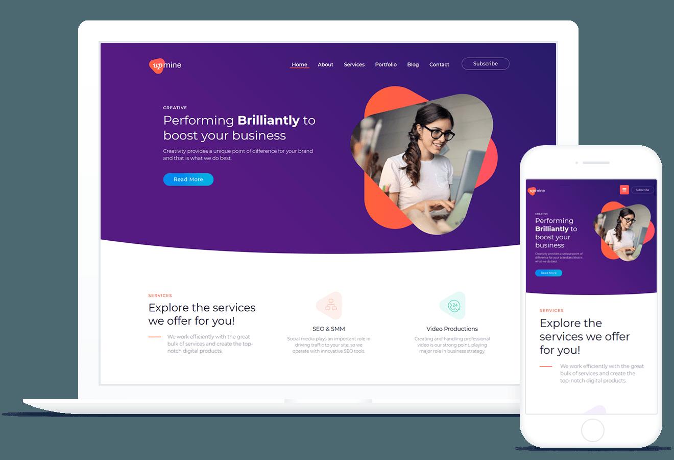 Upmine — WordPress Theme
